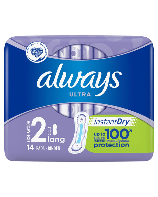 ALWAYS Always Ultra Long (Size 2) Sanitary Towels 14 Pads