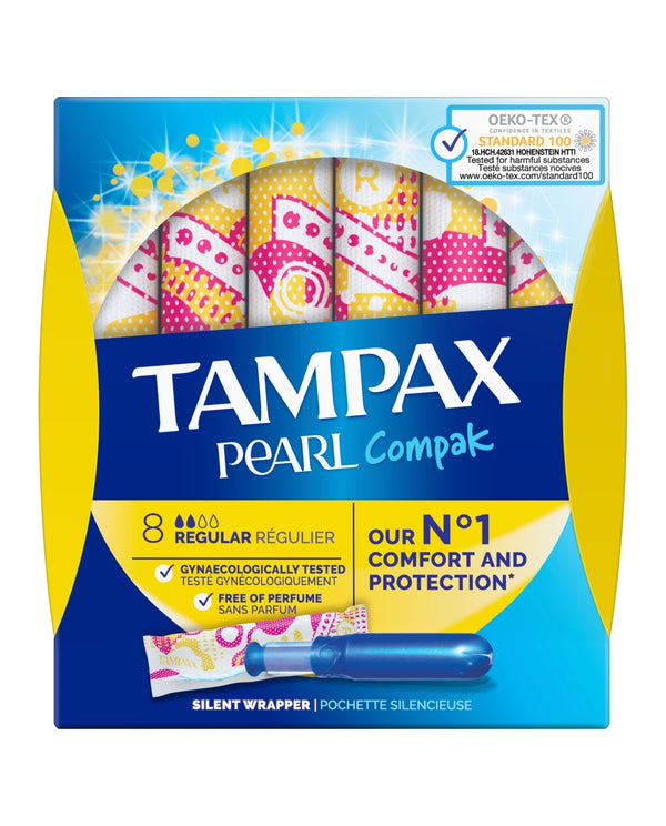 TAMPAX Tampax Pearl Compak Regular Tampons Applicator 8X
