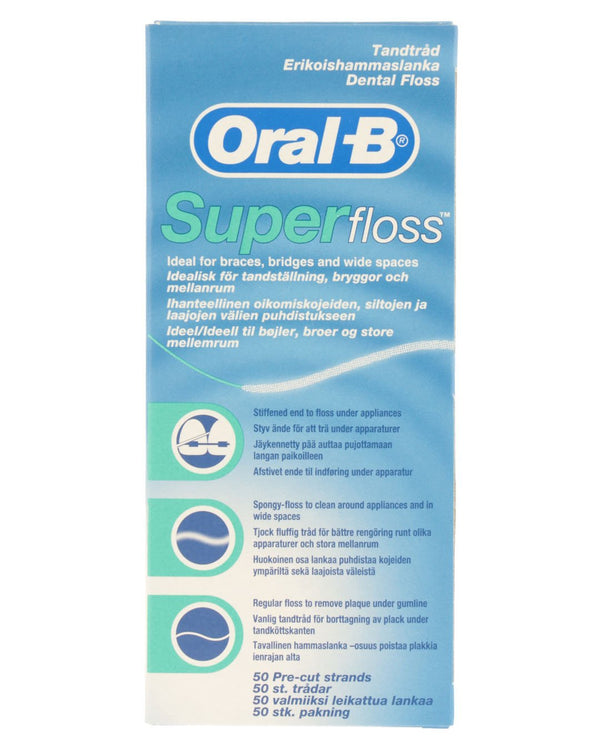 ORAL-B Super Dental Floss Strands Mint