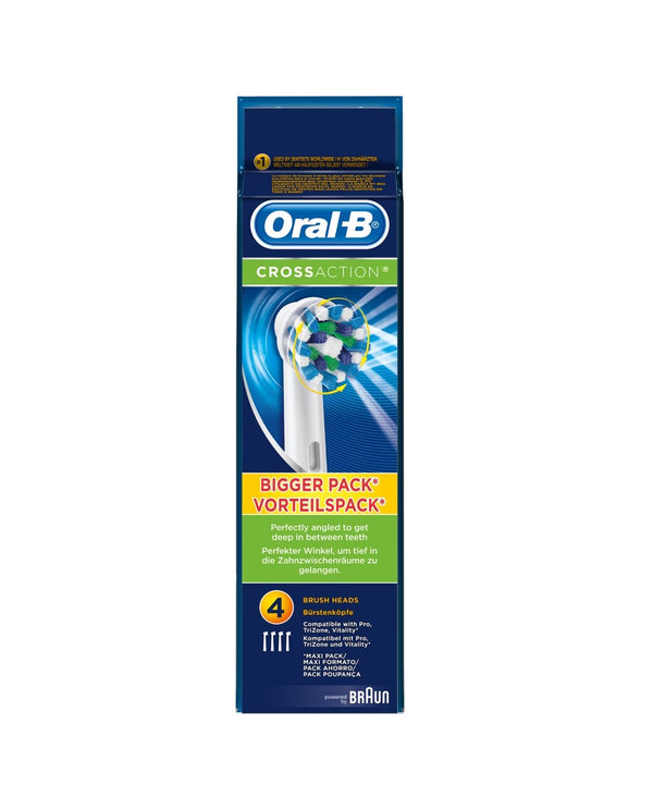ORAL-B CrossAction Replacement Electric Toothbrush Heads