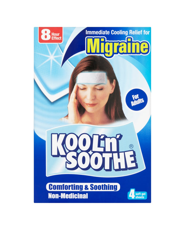 KOOL'N'SOOTHE Migraine Soft Gel Sheets For Adults