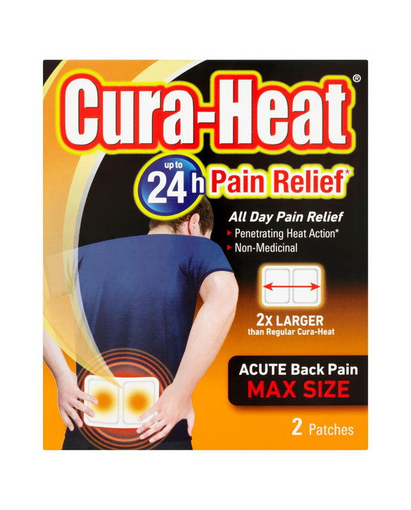 CURA-HEAT Acute Back Pain Max Size 2 Heat Patches