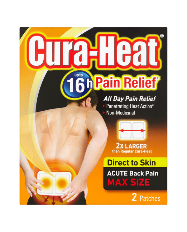 CURA-HEAT Pain Relief Acute Back Pain Max Size Patches