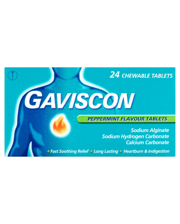 GAVISCON Peppermint Flavour Tablets Chewable Tablets