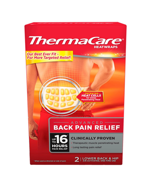 THERMACARE HeatWraps Advanced Back Pain Relief Lower Back & Hip