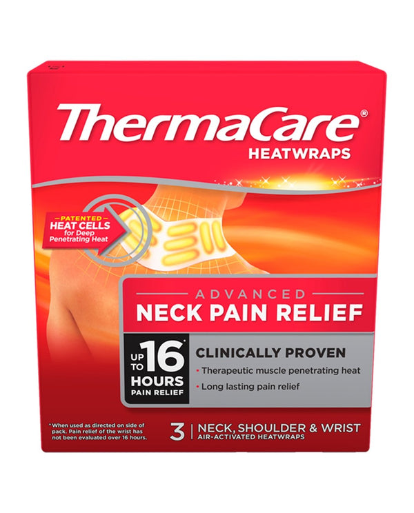THERMACARE HeatWraps Advanced Neck Pain Relief Neck, Shoulder & Wrist