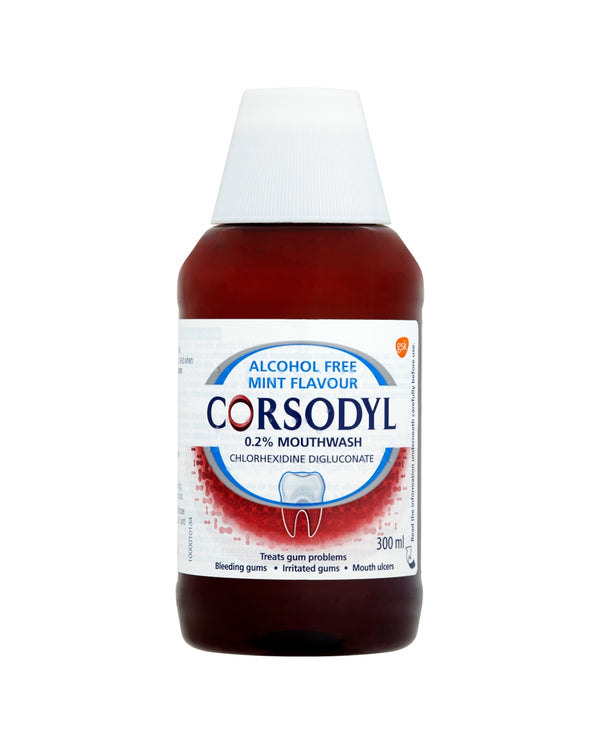Corsodyl Gum Disease Treatment Mouthwash Chlorhexidine 0.2% Alcohol Free Mint