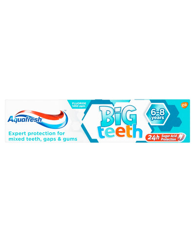 AQUAFRESH Kids Toothpaste Big Teeth 6-8 Years
