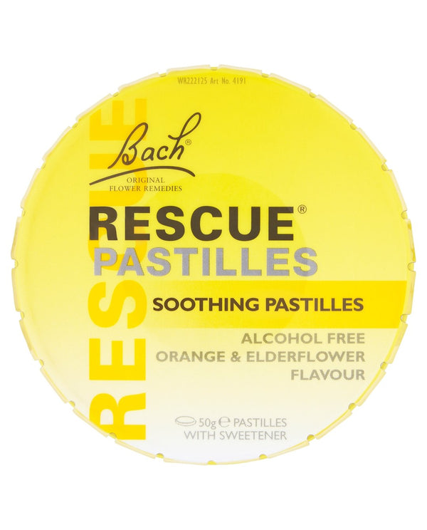 Rescue Soothing Pastilles Orange & Elderflower Flavour