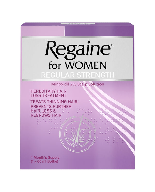 REGAINE Regular Strength Minoxidil 2% Scalp Solution for Women