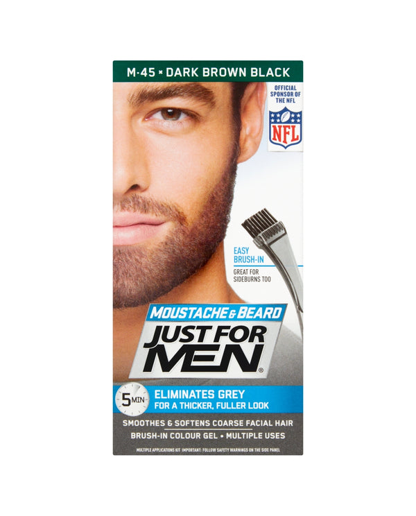JUST FOR MEN Moustache & Beard Dark Brown Black M-45