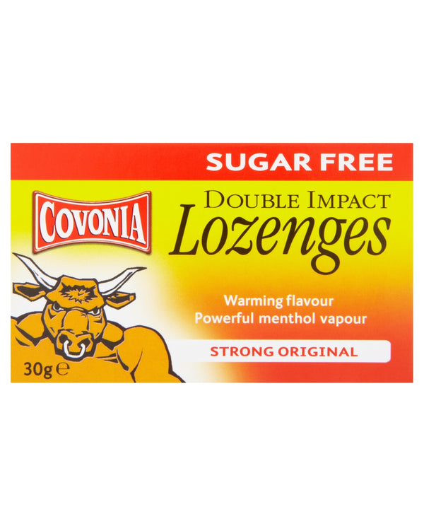 COVONIA Sugar Free Double Impact Lozenges Strong Original