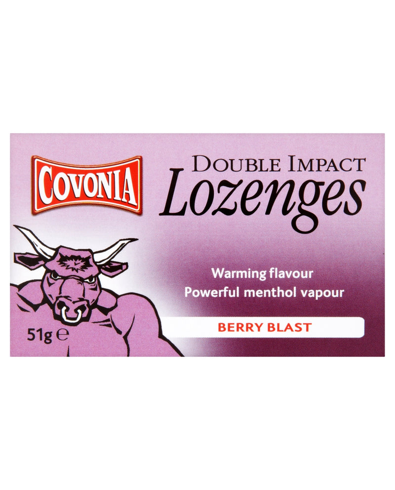 COVONIA Double Impact Lozenges Berry Blast