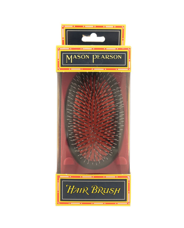 "MASON PEARSON Medium Military ""Junior"" Nylon & Bristle Hairbrush BN2M"