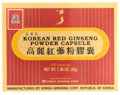 KOREAN RED GINSENG Powder Capsule