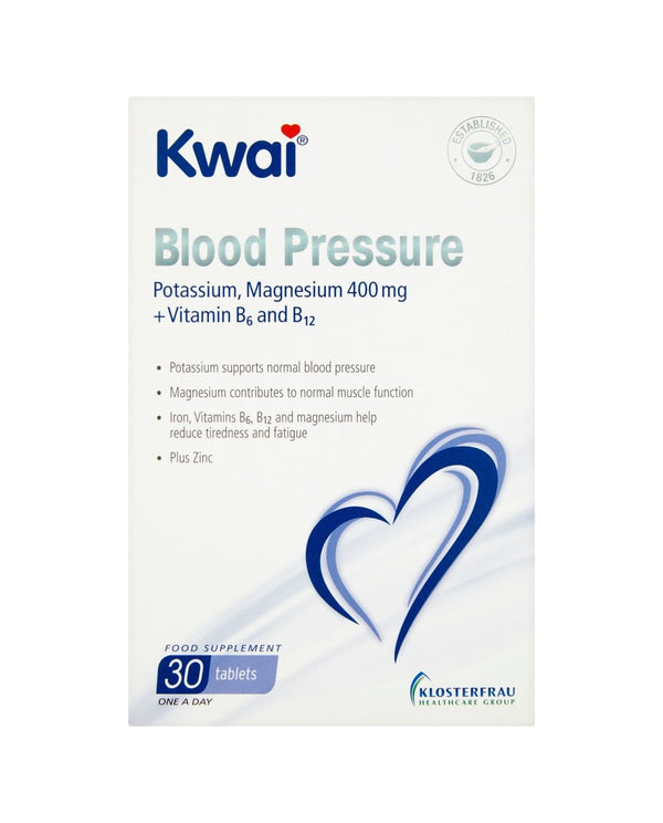 KWAI Blood Pressure Potassium, Magnesium 400mg + Vitamin B6 and B12 One a Day