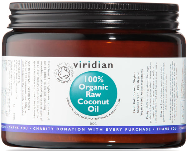 VIRIDIAN 100% Organic Raw Coconut Oil