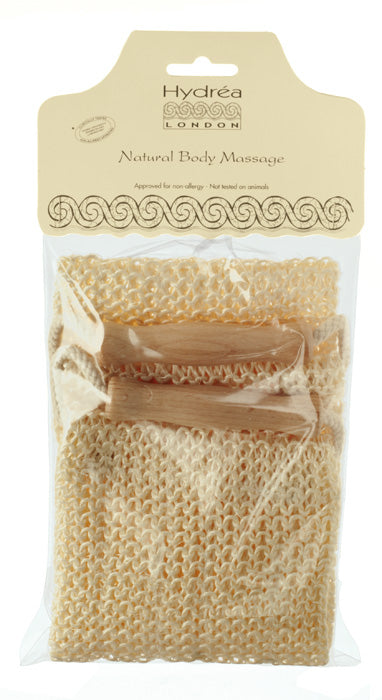 HYDRÉA LONDON Woven Sisal Exfoliating Back Strap