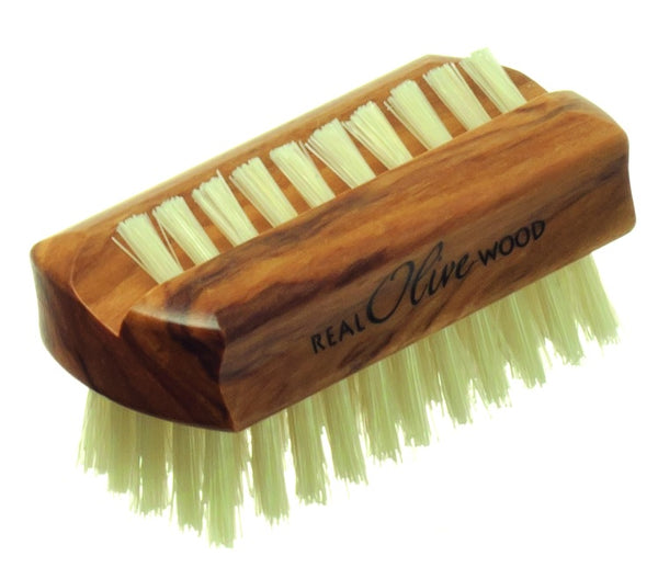 HYDRÉA LONDON Olive Wood Nail Brush With Pure Bristle (Travel Size)