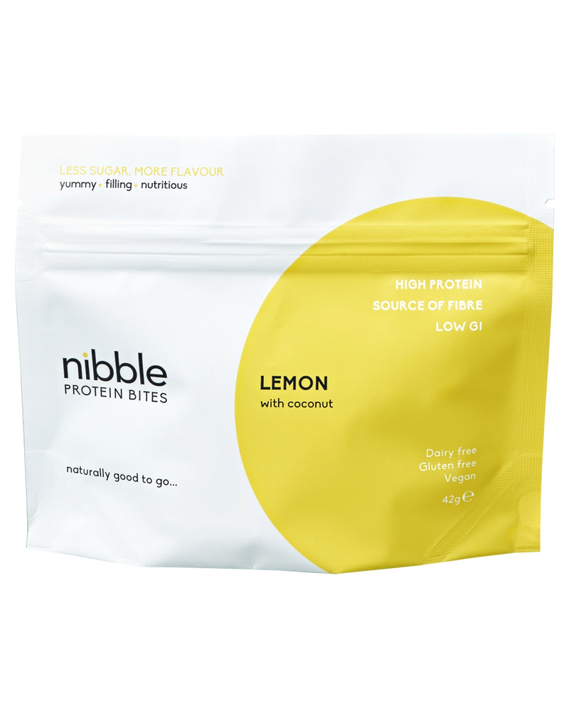 NIBBLE Lemon with Coconut  Protein Bites