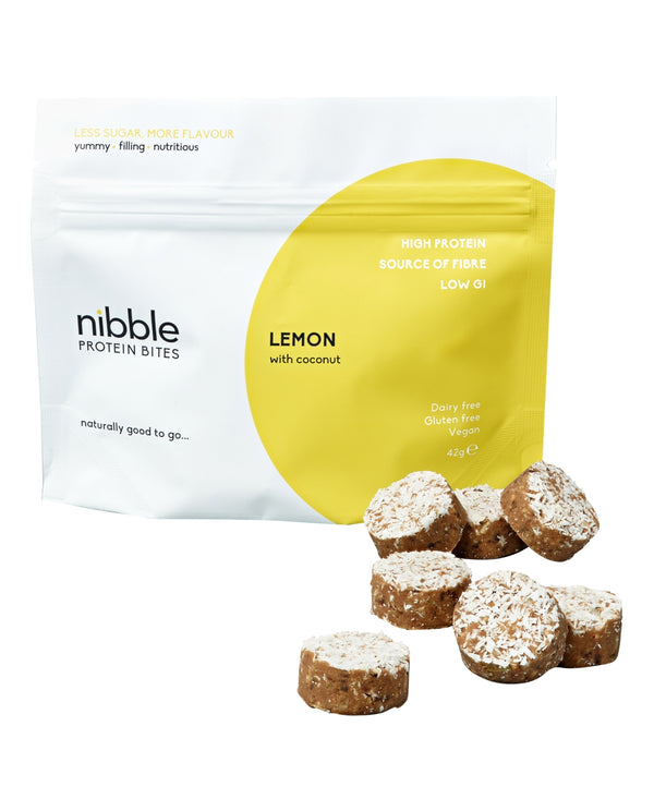 Lemon with Coconut  Protein Bites