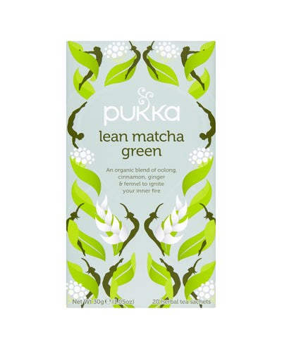 PUKKA Lean Matcha Green Herbal Tea Sachets