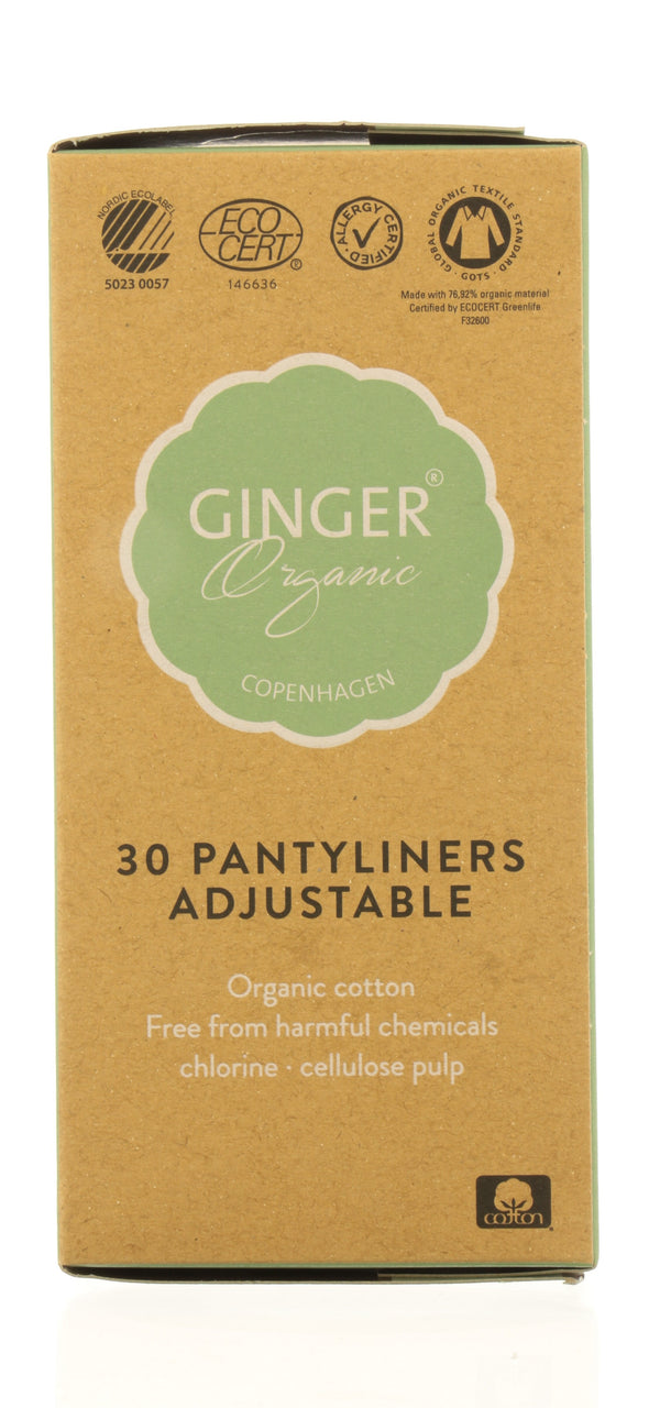 GINGER ORGANIC Pantyliners - Adjustable