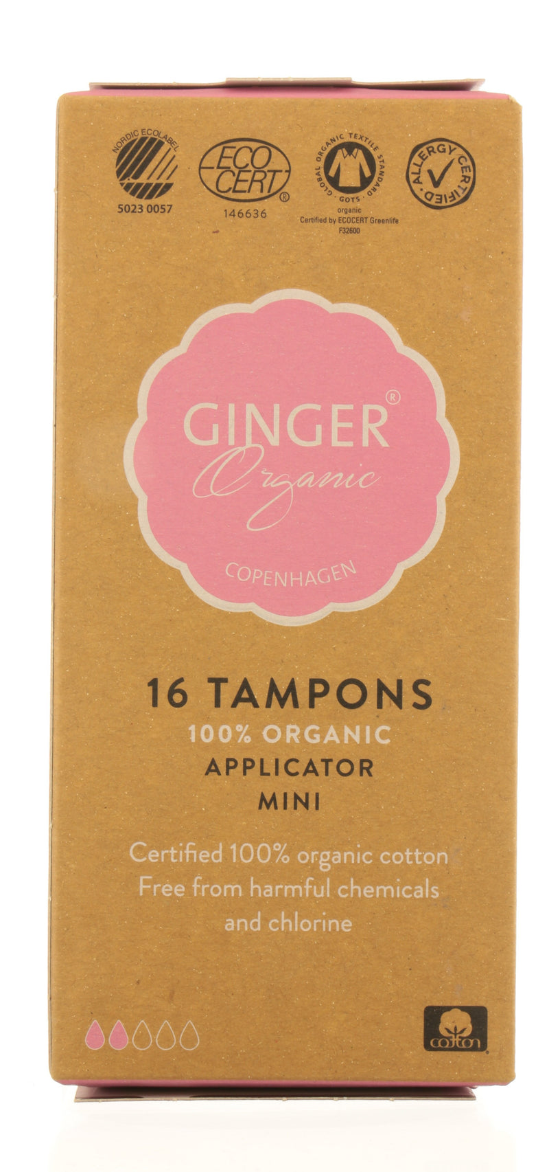 GINGER ORGANIC Tampons with applicator - Mini
