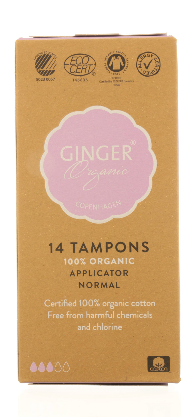 GINGER ORGANIC Tampons with applicator- Normal