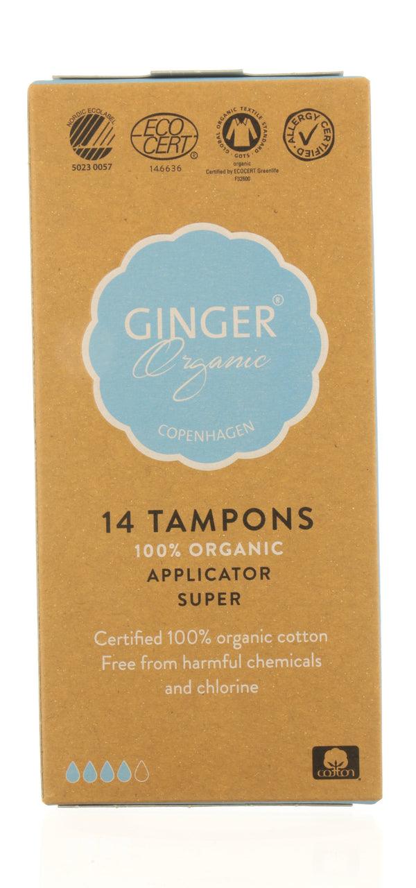GINGER ORGANIC Tampons with applicator - Super