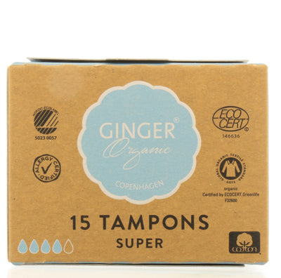 GINGER ORGANIC Tampons without applicator - Super