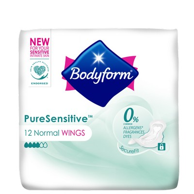 BODYFORM Pure Sensitive Ultra Sanitary Towels Wings