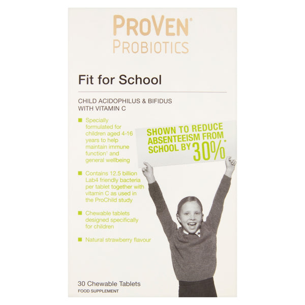 PROVEN Probiotics Fit for School Chewable Tablets