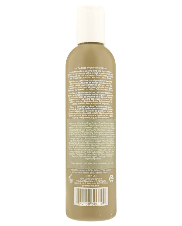 Zinc & Sage Shampoo with Conditioner