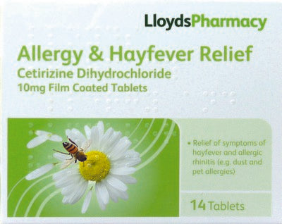 LLOYDS PHARMACY Hayfever and Allergy Relief Tablets