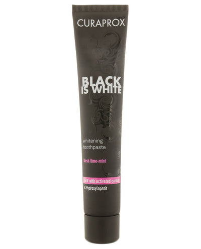 CURAPROX Black is White Charcoal Whitening Toothpaste