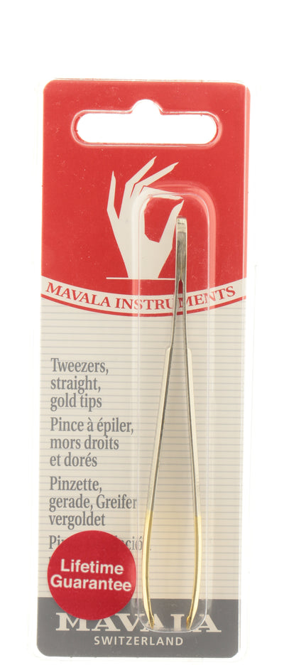 MAVALA Tweezer Straight Gold Tip