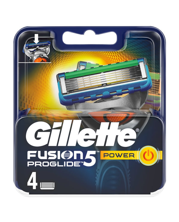 GILLETTE FUSION5 ProGlide Power Razor Blades For Men