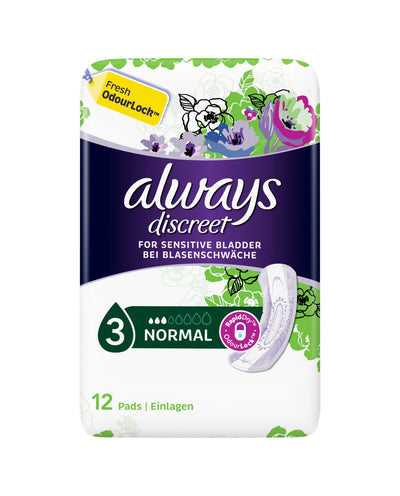 ALWAYS Always Discreet Incontinence Pads Normal For Sensitive Bladder 12
