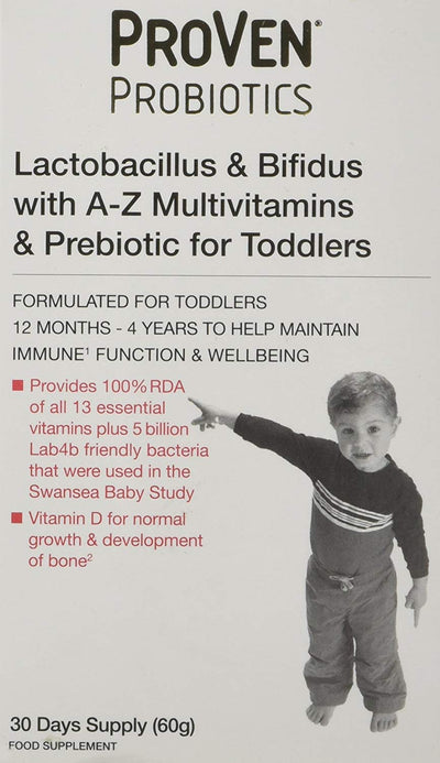 PROVEN Probiotics for Toddlers 30 Days Supply 60g