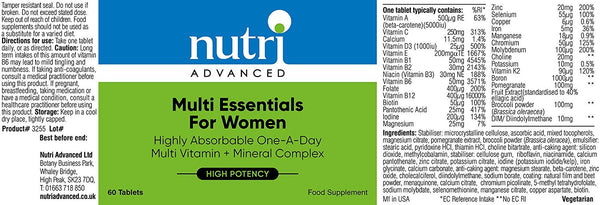 Multi Essentials For Women Multivitamin