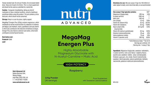 MegaMag® Energen Plus (Raspberry) Magnesium Powder
