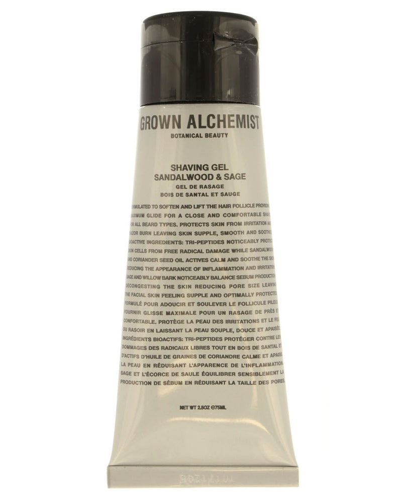 GROWN ALCHEMIST Shaving Gel: Sandalwood, Sage