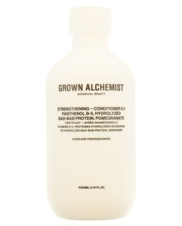 GROWN ALCHEMIST Strengthening — Conditioner 0.2: Panthenol B-5, Hydrolyzed Baobab Protein, Pomegranate