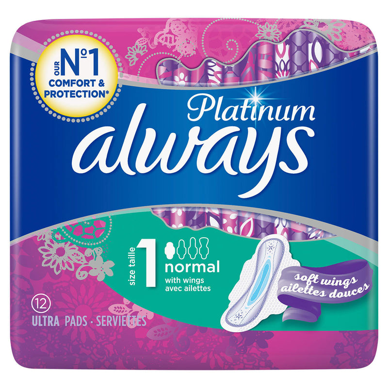 ALWAYS Platinum Normal (Size 1) Sanitary Towels Wings