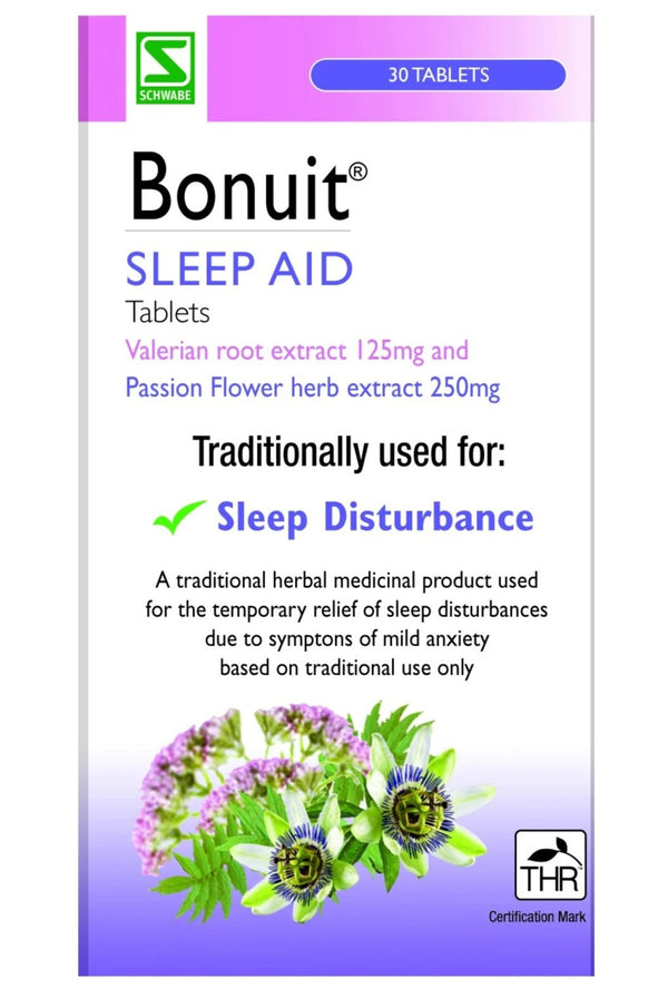 BONUIT SLEEP AID Valerian And Passionflower Tablets