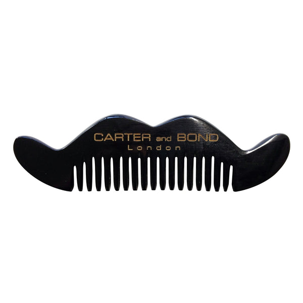 CARTER AND BOND Horn Moustache Comb Dark