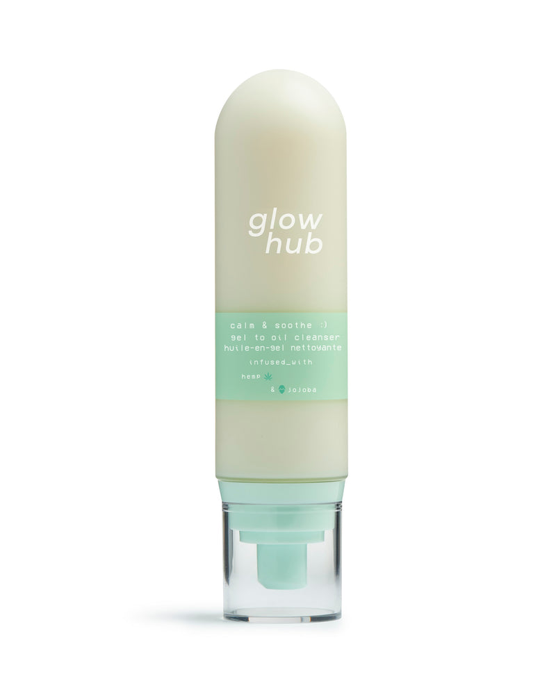 GLOW HUB Calm & Soothe Gel To Oil Cleanser