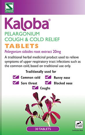 KALOBA Pelargonium Cough & Cold Relief Tablets