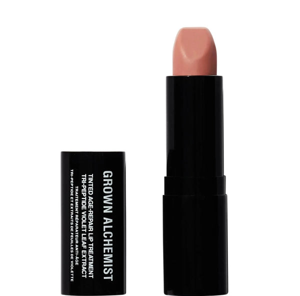 GROWN ALCHEMIST Tinted Age Repair Lip Treatment: Tri-Peptide, Violet Leaf Extract